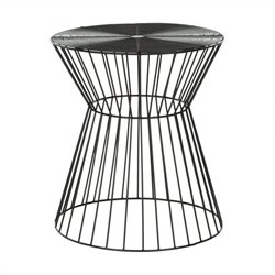 Safavieh Ivan Iron Wire Stool in Black Epoxy