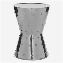 Safavieh Thorium Aluminum Rivet Stool in Silver