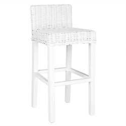Safavieh Cypress Mango Wood Bar Stool in White