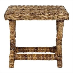 Safavieh Manor Wicker and Wooden Bench in Natural