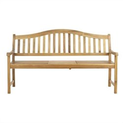 Mischa Steel and Acacia Wood Bench