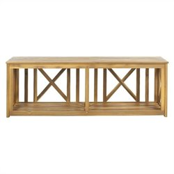 Branco Steel and Acacia Wood Bench