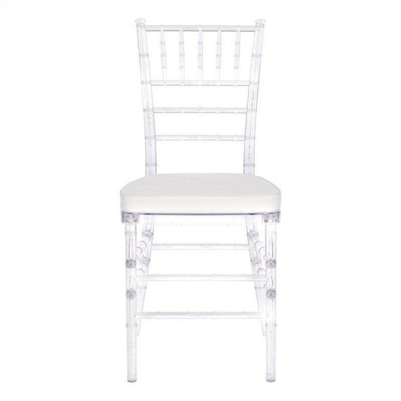 Safavieh Carly PC Resin  Dining Chair in Clear (Set of 2)