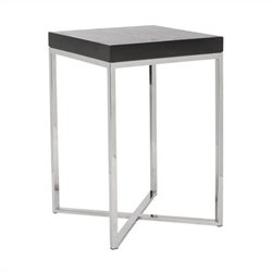 Safavieh Morgan Stainless Steel Square End Table in Silver