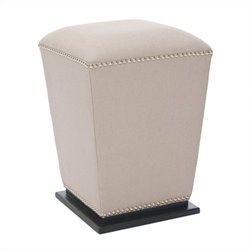 Safavieh Blaze Beech Wood Ottoman in Beige (Set Of 2)