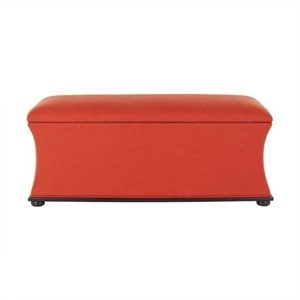 Safavieh Kate Pine Wood Storage Bench in Orange