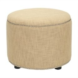 Safavieh Louis Beech Wood Ottoman in Gold