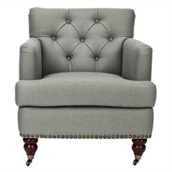 Safavieh Grace Birchwood Club Chair in Green and Grey
