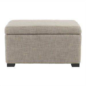 Safavieh Leon Beech Wood Small Bench in Grey
