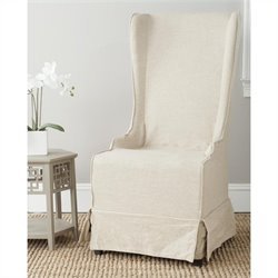 Safavieh Elena Birch Wood Slipcover Dining Chair in Cream