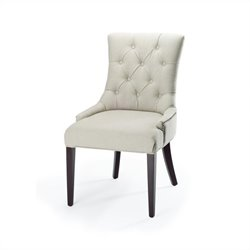 Safavieh Amanda Birch Wood Chair in Putty and Grey