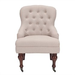 Safavieh Madeline Birch Wood Arm Chair in Off White