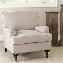 Safavieh Sierra Birch Wood Club Chair in Beige