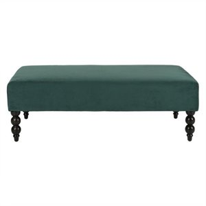 Safavieh Reagan Cotton Ottoman in Marine