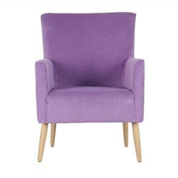 Safavieh Darryl Birch Wood Arm Chair in Purple