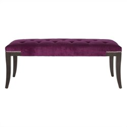 Safavieh Bob Birch Wood Bench in Purple