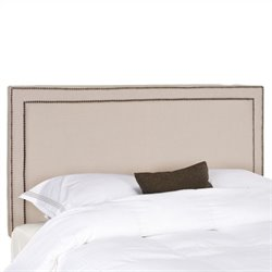 Safavieh Cory Plywood and Linen Queen Headboard in Taupe