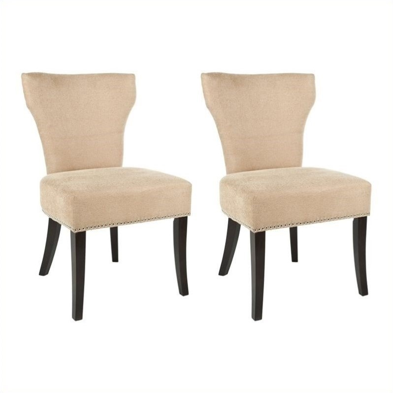 Safavieh Maria  Birch  Dining Chair in Wheat (Set Of 2)