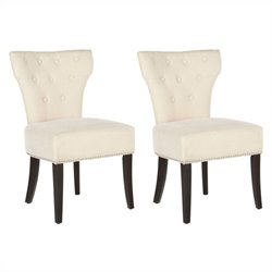 Safavieh Scarlett Birch  Dining Chair in Wheat (Set Of 2)
