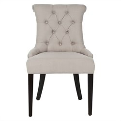 Safavieh Bowie Birch   Dining Chair in Taupe (Set Of 2)