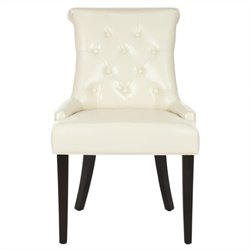 Safavieh Bowie Birch   Dining Chair in Cream (Set Of 2)