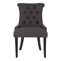 Safavieh Bowie Birch   Dining Chair in Charcoal (Set Of 2)