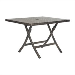 Safavieh Samana Sqaure Folding Table in Brown