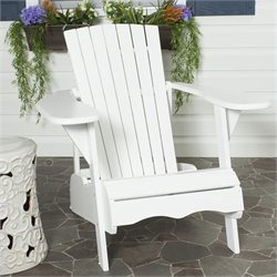 Safavieh Mopani Acacia Chair in White