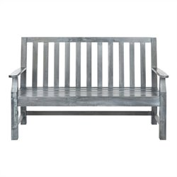Safavieh Indaka Acacia Bench in Ash Grey