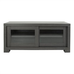 Safavieh Davis Sliding Door Tv Cabinet in Dark Grey