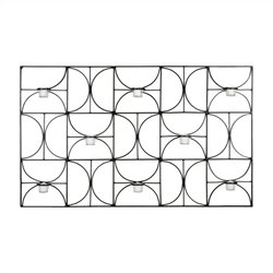 Safavieh Iron and Glass Votive Wall Decor in Black