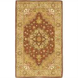 Safavieh Heritage Accent Rug in Rust / Gold