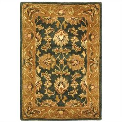 Safavieh Heritage Accent Rug in Dark Green / Gold