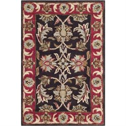Safavieh Heritage Accent Rug in Chocolate / Red