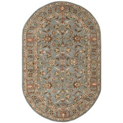 Safavieh Heritage Oval Rug in Blue / Blue