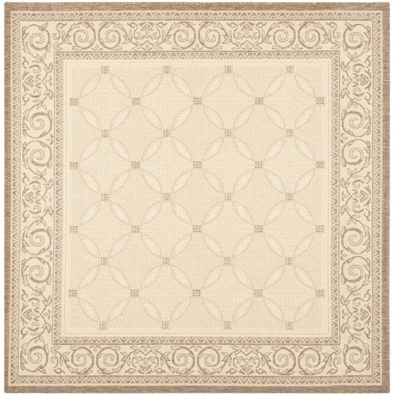 Safavieh Courtyard Natural Indoor Outdoor Rug Square 6 7