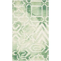 Safavieh Dip Dyed Green Contemporary Rug - 2' x 3'