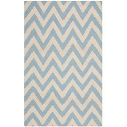 Safavieh Dhurries Blue Contemporary Rug - Runner 2'6