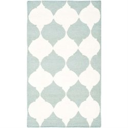 Safavieh Dhurries Blue Contemporary Rug - 3' x 5'