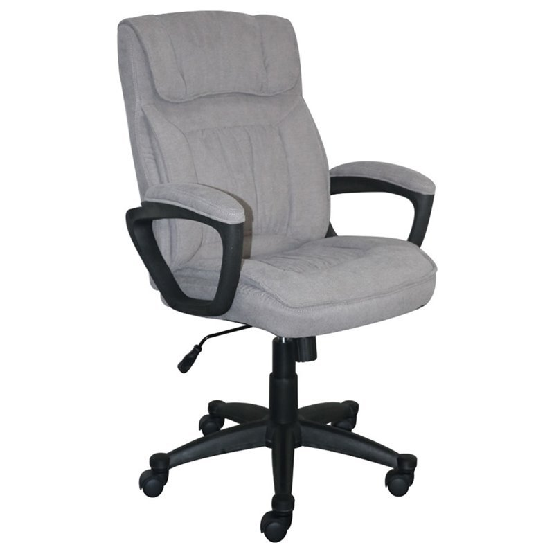 Serta At Home Style Hannah I Microfiber Office Chair In Light Gray