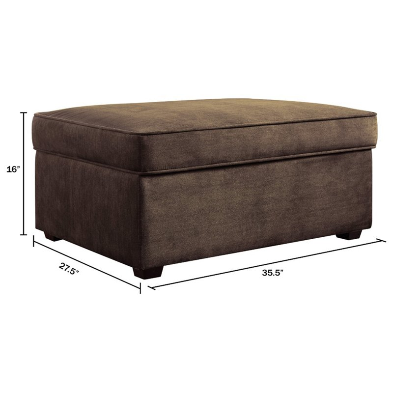 Serta at Home Olin Storage Ottoman in Wild Fawn