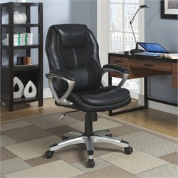 Serta Office Chair in Puresoft Black Faux Leather