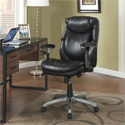 Serta AIR Office Chair in Black Bonded Leather