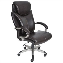 AIR Executive Office Chair in Brown Bonded Leather