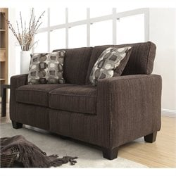 Serta San Paolo Love Seat in Mink Brown Fabric