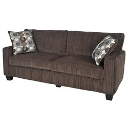 Serta San Paolo Deluxe Sofa in Mink Brown Fabric