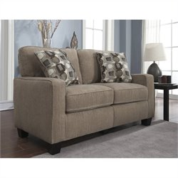 Serta Santa Cruz Love Seat in Platinum Fabric