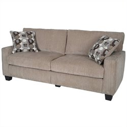Serta Santa Cruz Sofa in Platinum Fabric