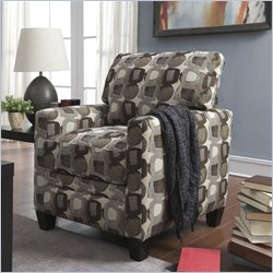 Serta Santa Cruz Track Accent Chair in Martini-Coconut