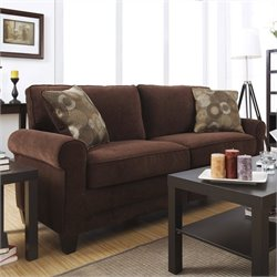Serta Trinidad Sofa in Chocolate Fabric